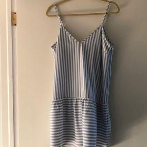 Sugar Lips Blue & White Stripe Dress